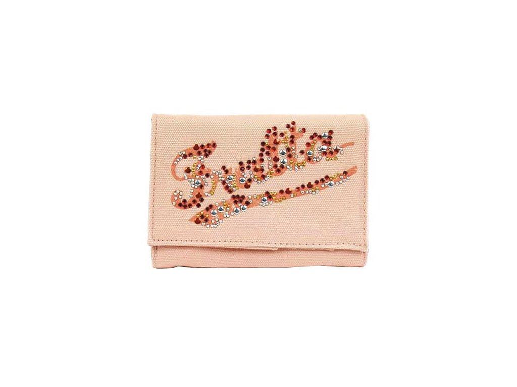 Frutta peněženka na klip (2940) oranžová s kamínky