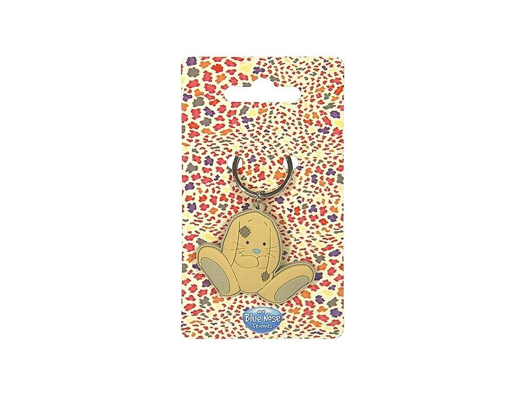 My Blue Nose Friends gumový přívěsek na klíče s kroužkem (6777) Králíček Blossom