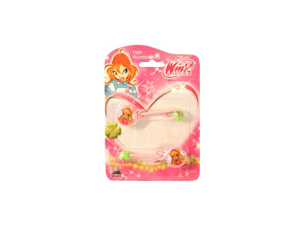 Winx Club gumička do vlasů 2ks O Stella světle růžová (0727)
