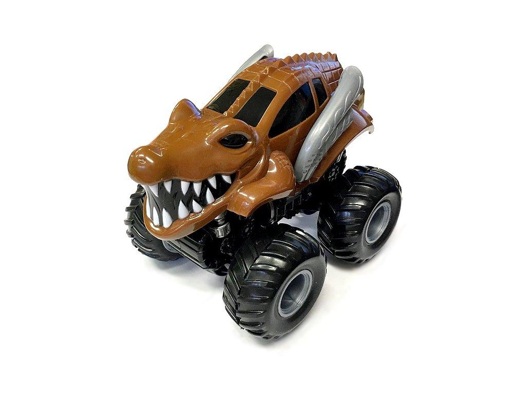 Monster 4x4 SUV auto na setrvačník I.série 13cm hnědé