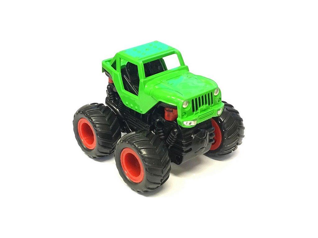 Small Monster 4x4 SUV auto na setrvačník 9cm zelené