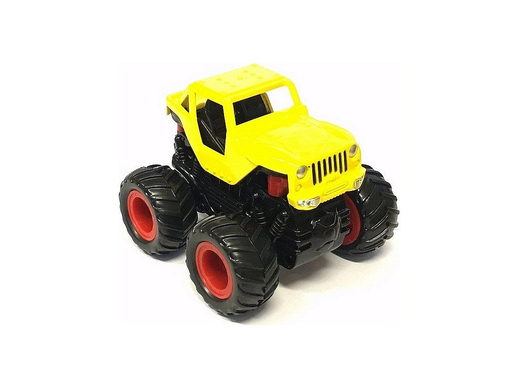 Small Monster 4x4 SUV auto na setrvačník 9cm žluté