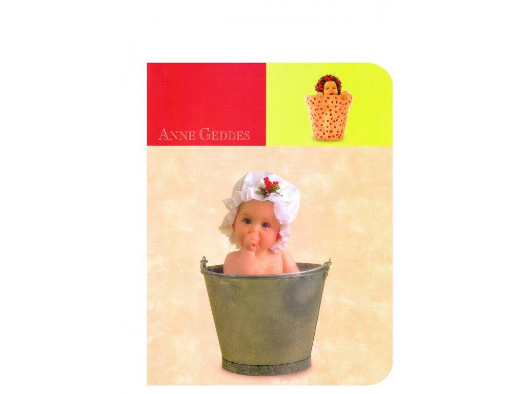 Anne Geddes Sešit A5 čtverečkovaný miminko v kbelíku