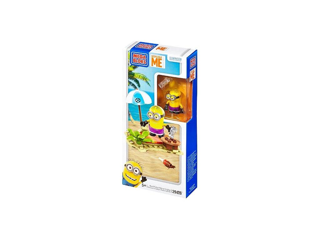 Mega Bloks Mimoni Beach Party CNC74 Mimoň s doplňky