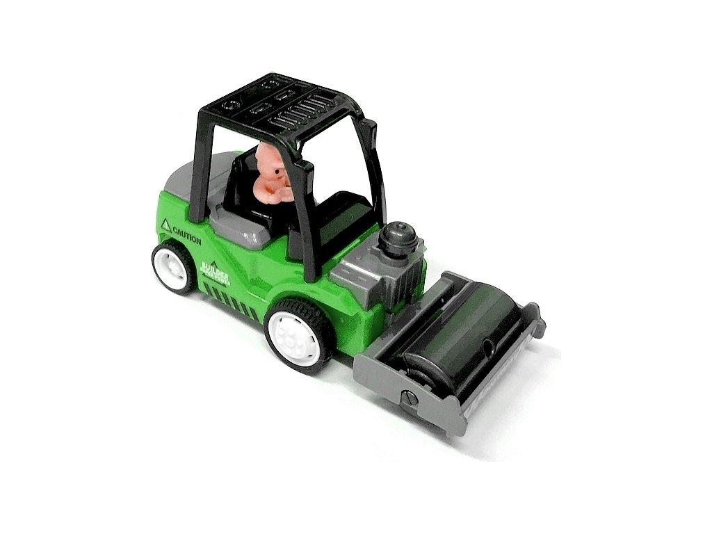 Mini Truck nakladač s válcem zelený