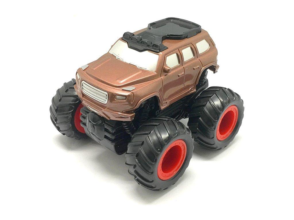 Small Monster 4x4 SUV auto na setrvačník 9cm barva bronzová