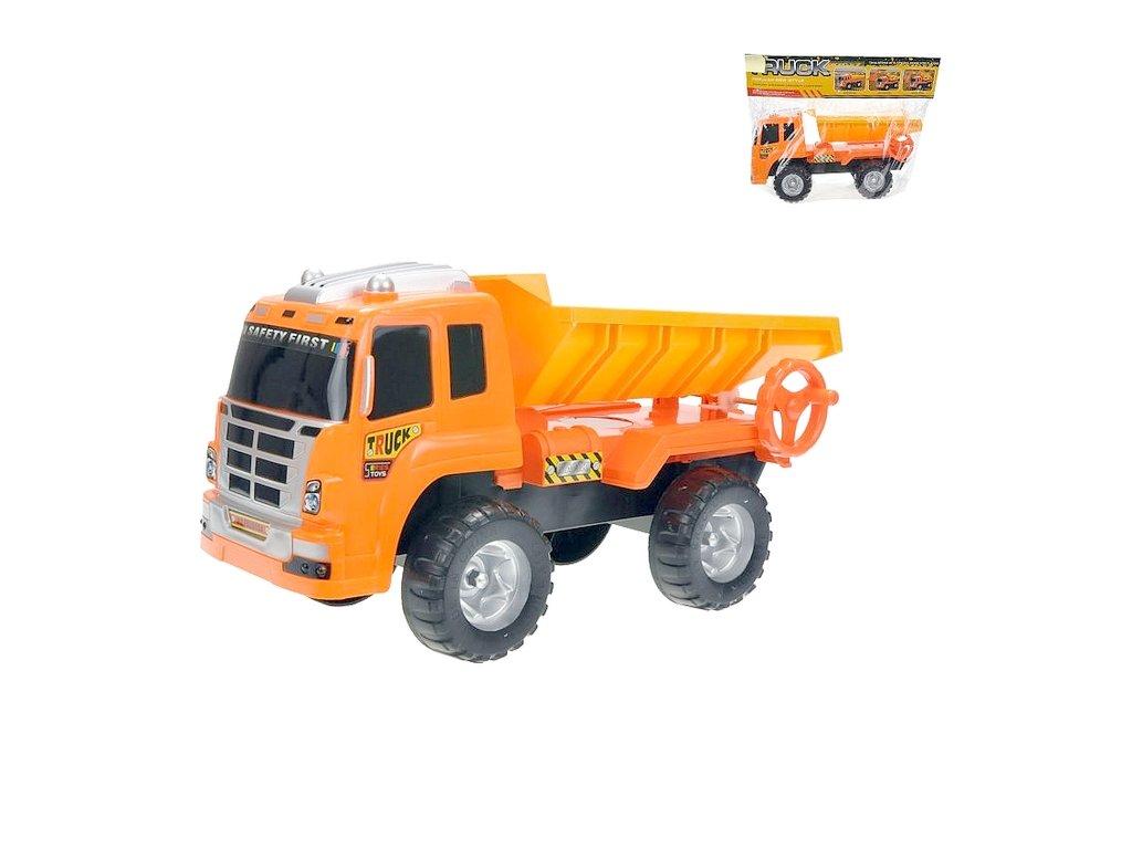 Mikro auto nákladní sklápěčka 39cm oranžové