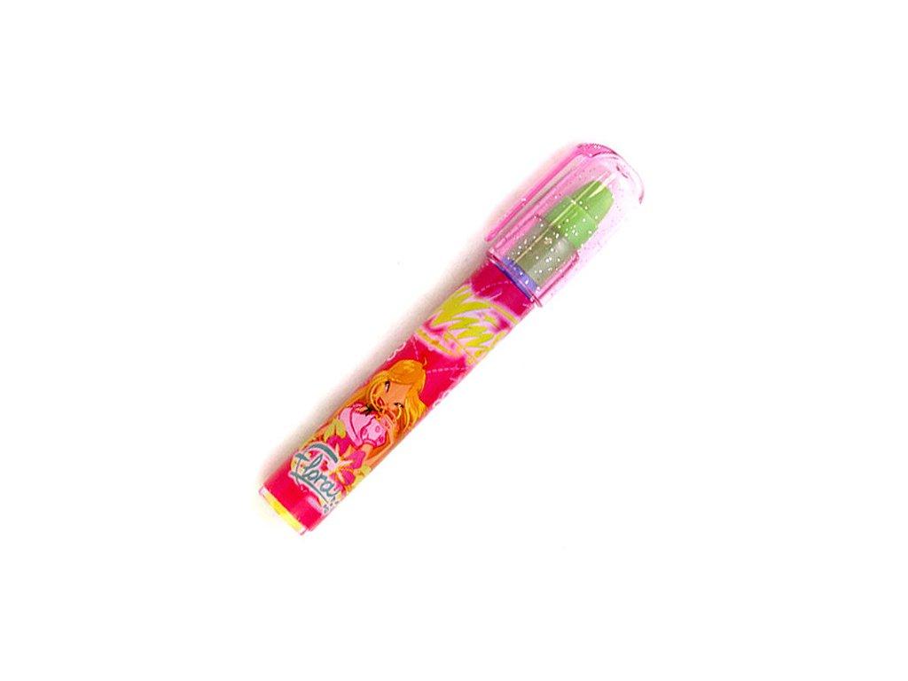 Winx Club guma v tužce výměnná Flora tmavě růžová