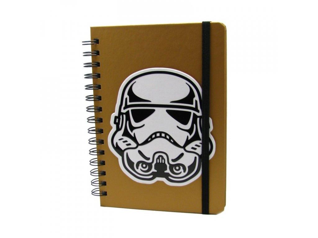 Spirálový poznámkový blok Star Wars Troopers