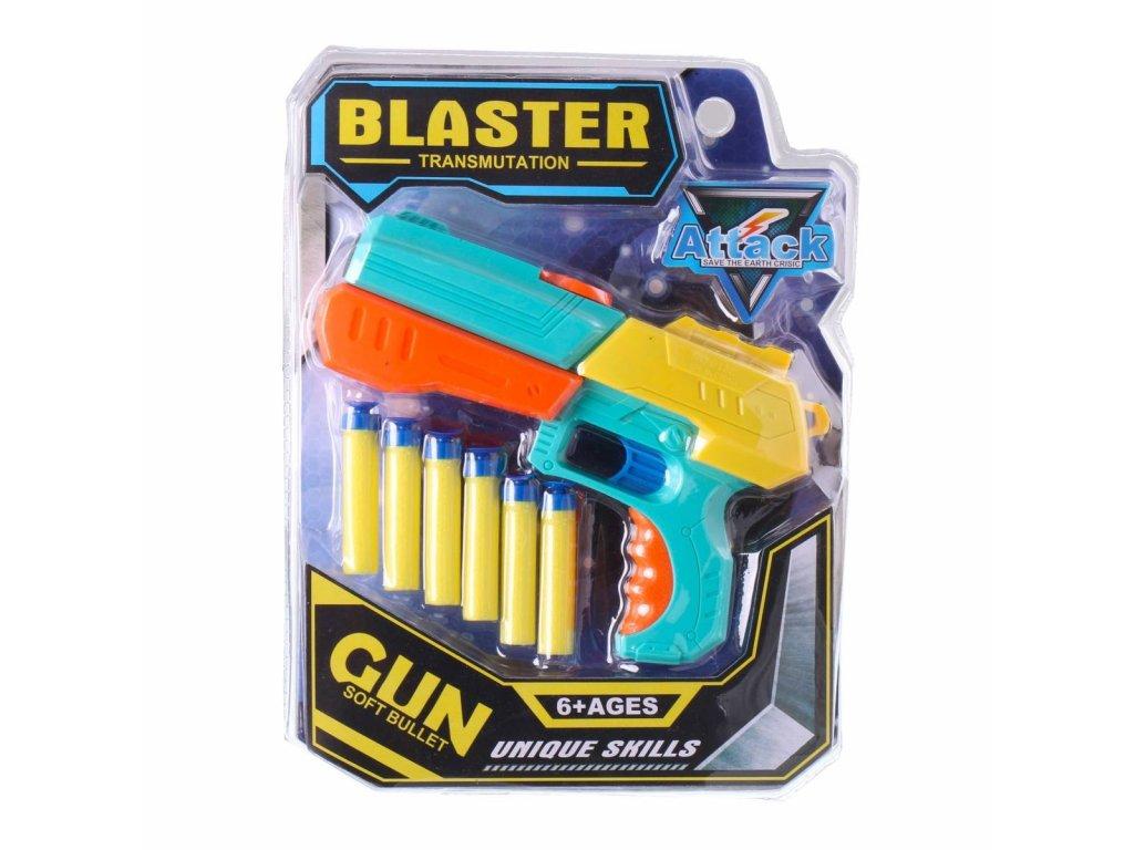 Blaster pistole s nábojemi 1420 (Barva Tyrkysová)
