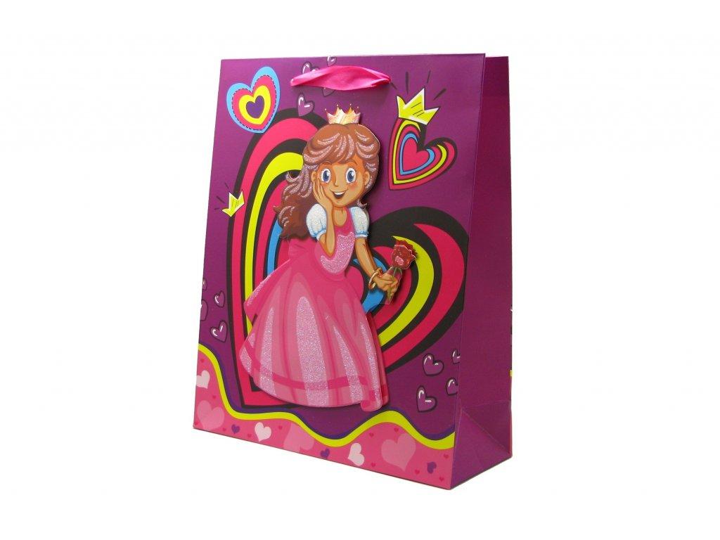 42699 darkova taska detska princezna stredni 3d s glitry ruzova 1 0071