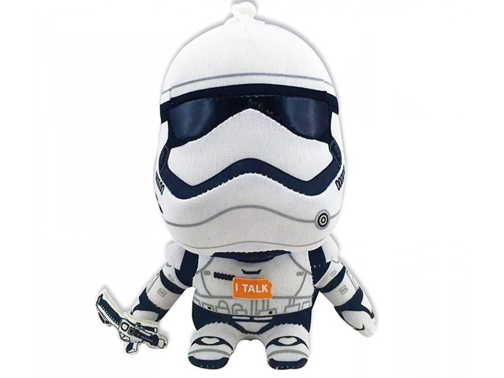 46137 2 star wars vii mini mluvici plysova hracka stormtrooper 10 cm