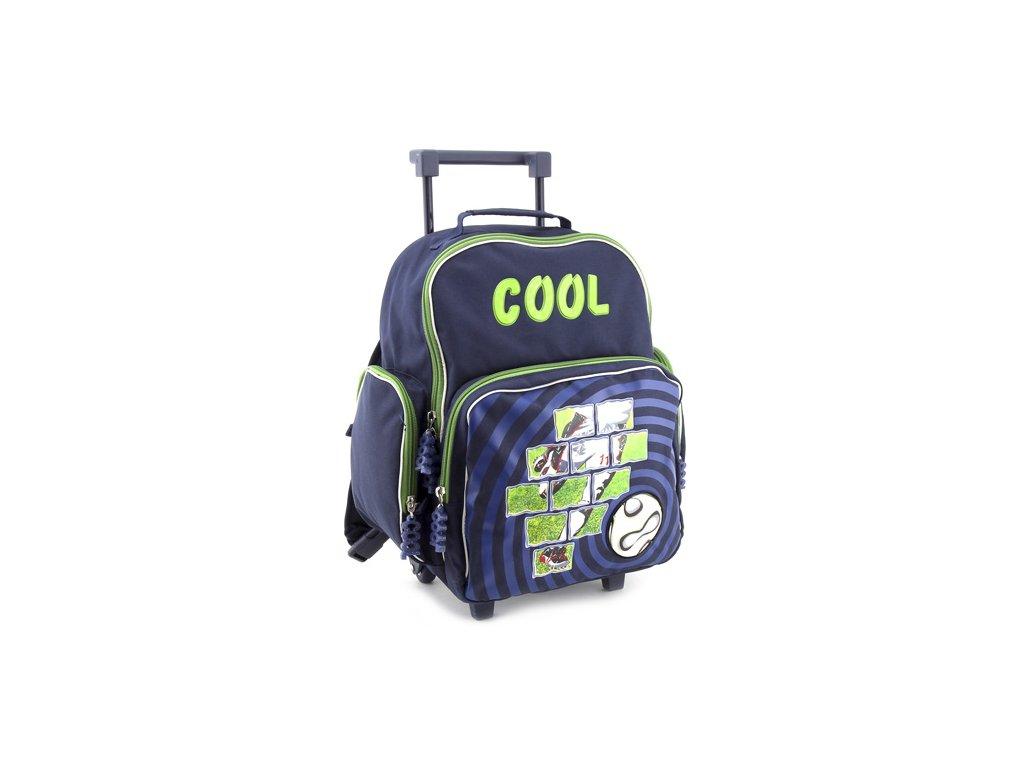 24435 skolni batoh trolley cool fotbal zeleny 7583