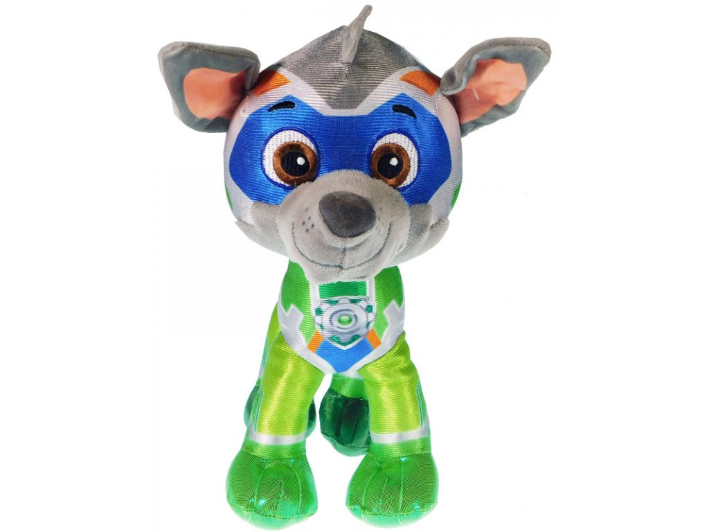 30740 plysova figurka tlapkova patrola super mighty pups rocky 6558