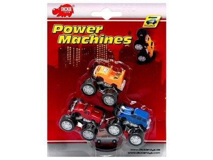 Dickie Toys - Set 3ks natahovacích autíček (2218) Power Machines