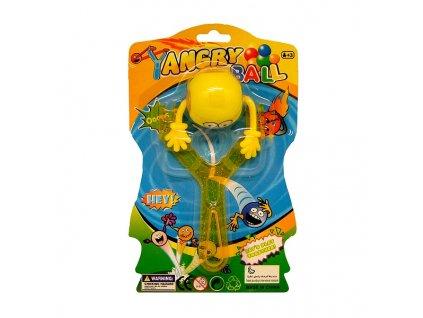 Angry Ball Prak s míčkem a světlem žlutý