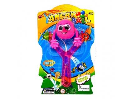 Angry Ball Prak s míčkem a světlem fialový