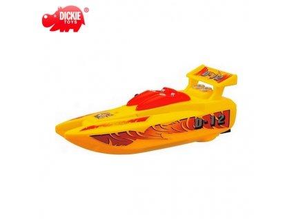 Dickie Toys - Rychlý člun na baterie (4923) žlutý