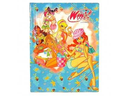 Winx Club - Desky s gumičkou 27x36cm (4713c)