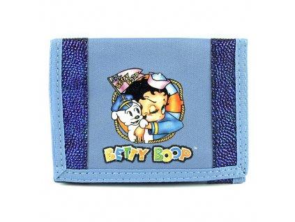 Betty Boop peněženka (0024a) modrá s kamínky