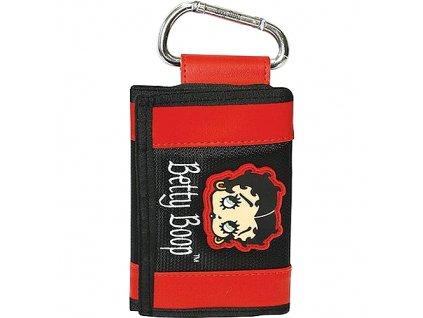 Betty Boop peněženka s karabinou (2691) černo-červená