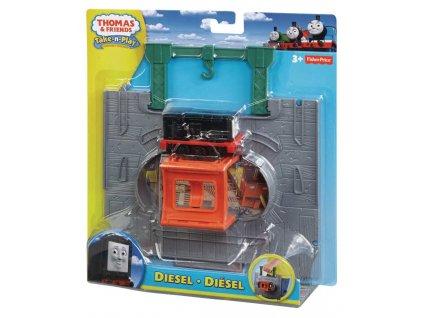 Fisher Price Y8759 Mašinka Tomáš TAKE-N-PLAY (5977) startovní hrací sada Diesel