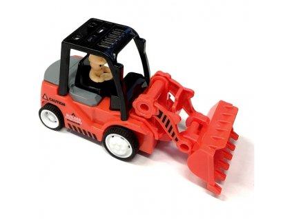 Mini Truck nakladač s radlicí červený