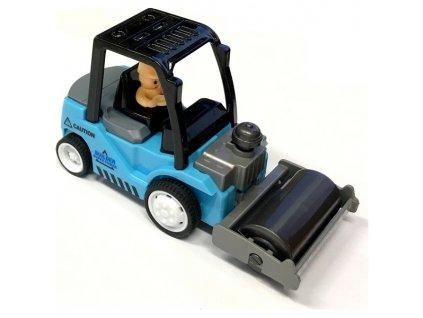 Mini Truck nakladač s válcem modrý