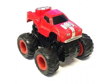 Small Monster 4x4 SUV auto na setrvačník 9cm červené