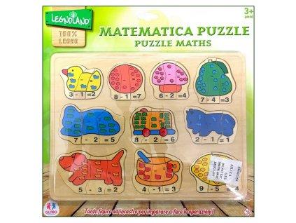 Legnoland Dřevěná matematická vkládačka (5617B)