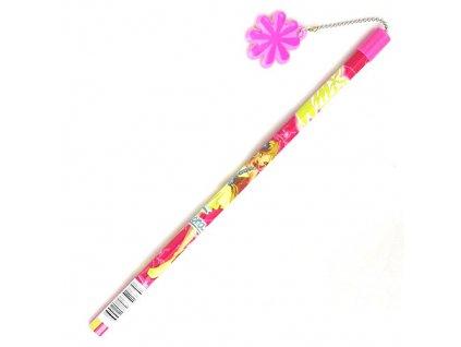 Winx Club Tužka s přívěskem na řetízku tmavě růžová