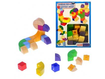 Mikro kostky různé tvary 58ks v krabičce