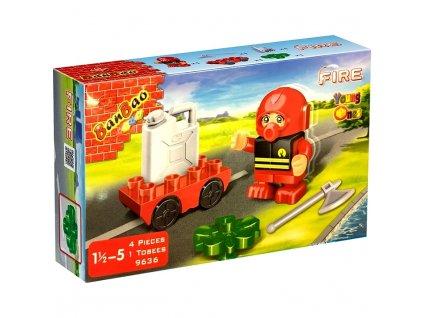 BanBao Fire figurka hasič s doplňky