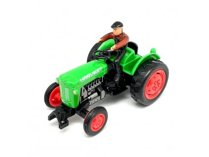 Mikro Traktor s farmářem zelený