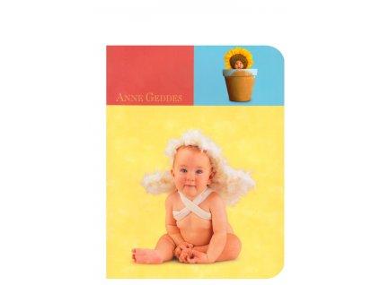 Anne Geddes Sešit A5 čtverečkovaný miminko andílek