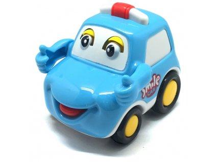 Q-Machines veselé auto s rukama (4262) modré
