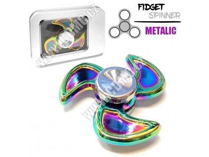 Fidget Spinner 5cm kovový barevný v krabičce Wind