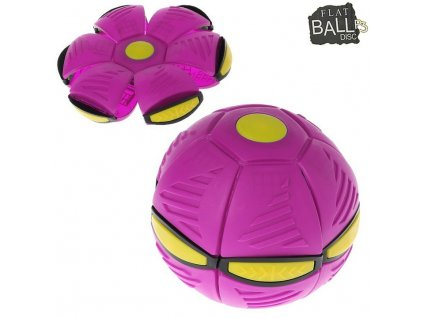 Flat Ball Disc se světlem - Růžový