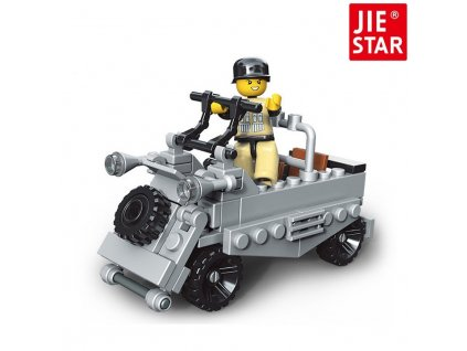 Jie Star Stavebnice Second War 23057-4 T-214 Jeep