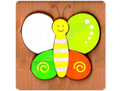 Dřevěná vkládačka Motýlek
