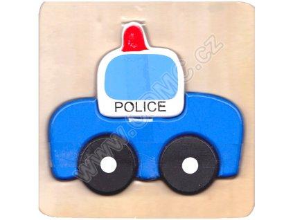 Dřevěná vkládačka Policie