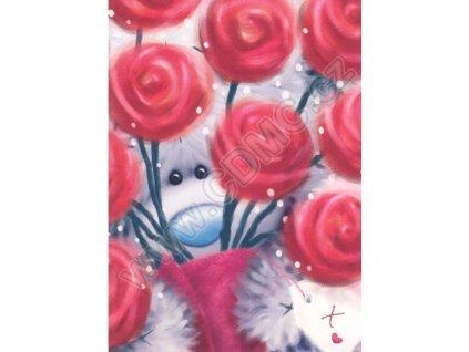 Blahopřání Me to You schovaný za květinami - 8