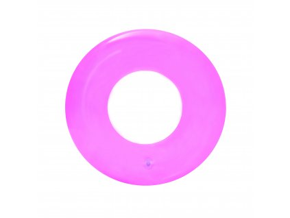 39292 2 bestway 36022 transparentni nafukovaci kruh ruzovy 51 cm