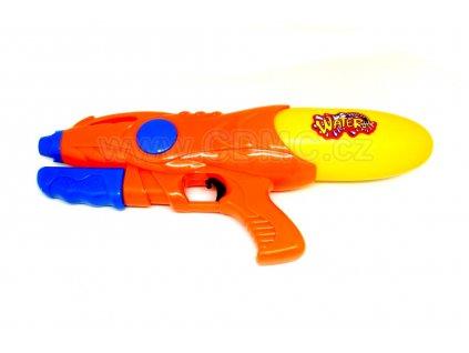 Vodní pistole s pumpou oranžová 39 cm