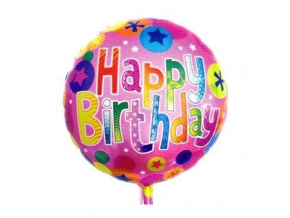 Nafukovací balónek Happy Birthday 3 fóliový 45 cm