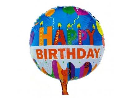 Nafukovací balónek Happy Birthday 4 fóliový 45 cm