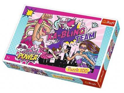 Trefl puzzle Barbie Superhrdinky 100 dilku