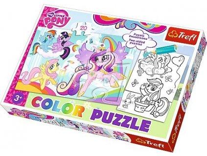 Trefl color puzzle oboustranne My little Pony 20 dilku