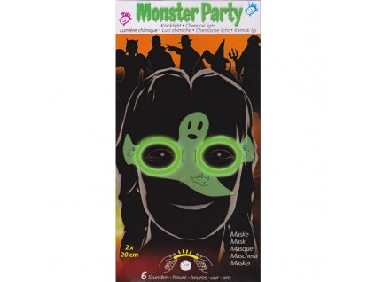 Maro toys Monster party maska duch svítící ve tmě