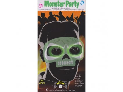 Maro toys Monster party maska lebka svítící ve tmě